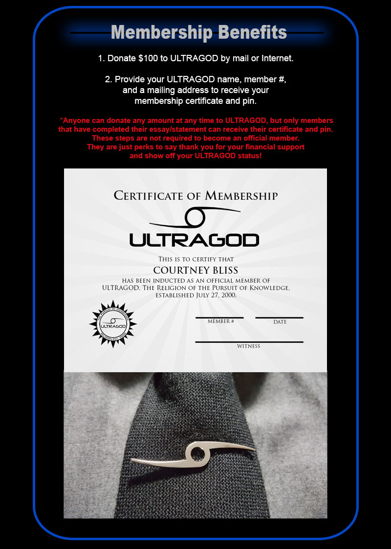 ULTRAGOD MEMBERSHIP BENEFITS