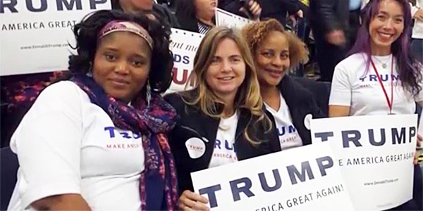 WOMEN ALL RACES SUPPORT TRUMP